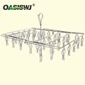 High Quality Welded Metal Hanger,Clothing Hanger---S/S--40clips--Foldable 23.5'X15'x16'