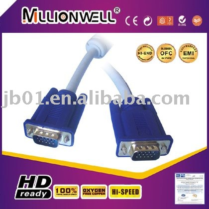 Manufacturing for xbox360 vga cable,cga to vga converter,vga connector