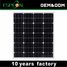 OEM 80W PV mono solar module for solar power system factory price