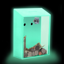 Wall Mounted acrylic donation box plastic boxes small clear plastic raffle box
