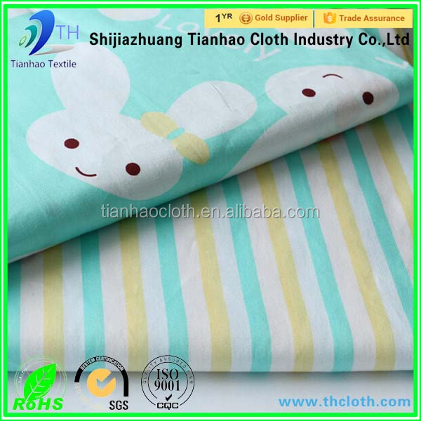 cotton pigment printed fabric 100 cotton printing children bedding sheet