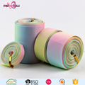 Custom wholesale 3 inch 75mm printed striped rainbow grosgrain ribbon