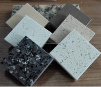 Top Quality Eco-friendly Artificial Quartz Stone with Grey Veins