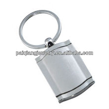 Promotional custom stainless steel high quality reflective keychain