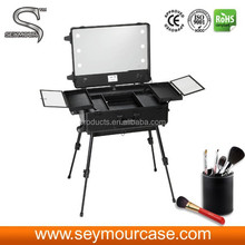 Makeup Brush Case Rolling Makeup Case With Lights Professional Makeup Case With Wheels