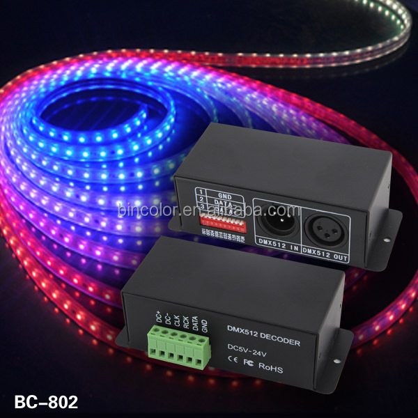 BC-802-8806 LPD8806 LED DMX Decoder, Compatible with LPD8803, LPD8806, LPD8809, LPD8812 IC