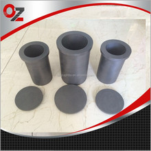 Graphite crucible for casting metals