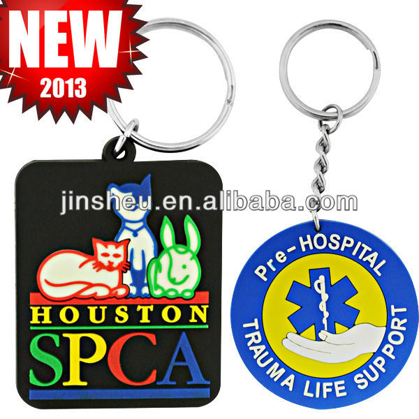 custom promotion gift cheap kids giveaway soft pvc key chain