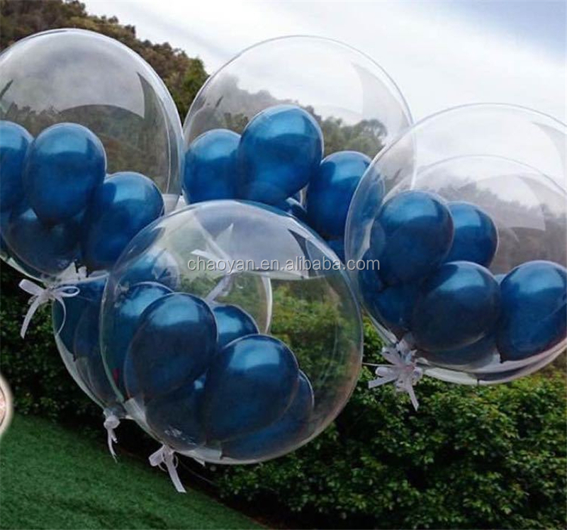 "Wholesale 24"" Giant Transparent Helium Foil balloons,Wedding Party Decoration Transparent balloons"