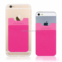 Universal Smart Cell Phone Sticky Card Holder For iPhone 5C 5S Samsung Galaxy S4