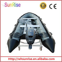 heavy duty commercial inflatable boat with engine