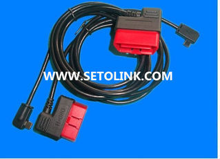 2014 HOT SALE J1962 FLAT OBDII 16 PIN MALE 90 DEGREE CONNECTOR TO MINI USB CABLE