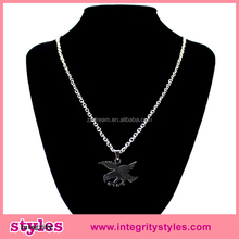 Long Chain Stainless Metal Eagle Pendant Necklace
