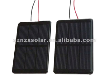 Customized Mini Solar Panel With Cable for Toys