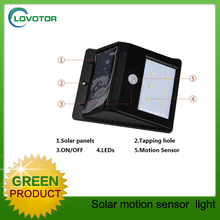 Solar powered outdoor wall mounted light led for garden