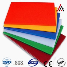 Rectangle plastic Chopping board colored HDPE cutting board