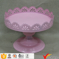 Pink Pedestal Decor Metal Server Cupcake Plate Stand