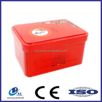 chinese scented tea gift tins packing with special printing
