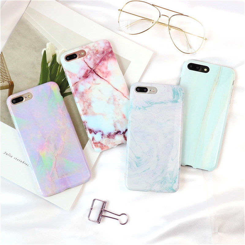 Marble Stone Printed Soft Phone Back Case Cover For iPhone X 8 7 6 6S Plus