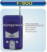s-900 good quality mini fm scan pocket studio radio with speaker