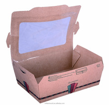 Kraft chip food carton with top window