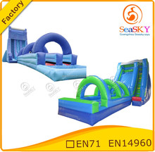 Inflatable hippo water slide / inflatable slide water for beach