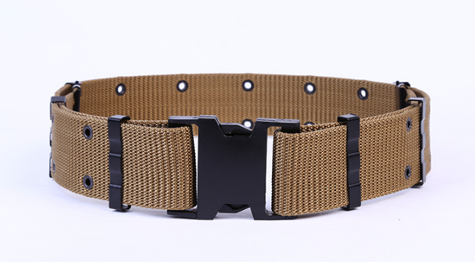 military camo webbing belt fabric belt pistol belt
