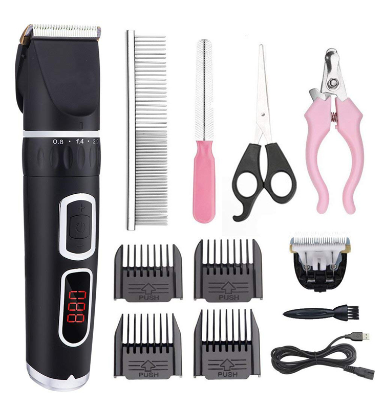 Professional pet electric hair grooming clipper rechargeable pet clipper