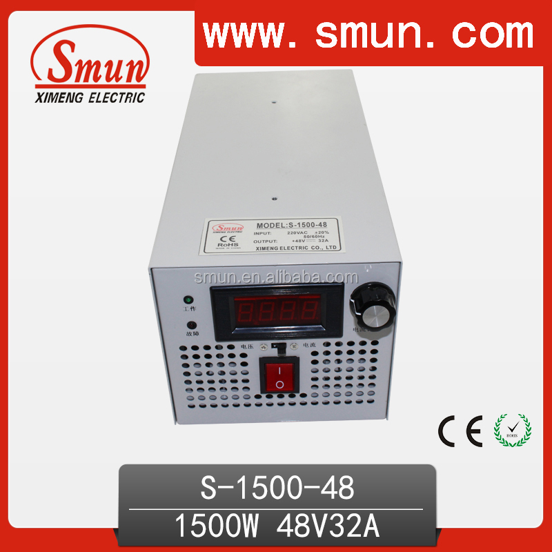 1500W Switching Mode Power Supply 48VDC 32A SMPS S-1500-48