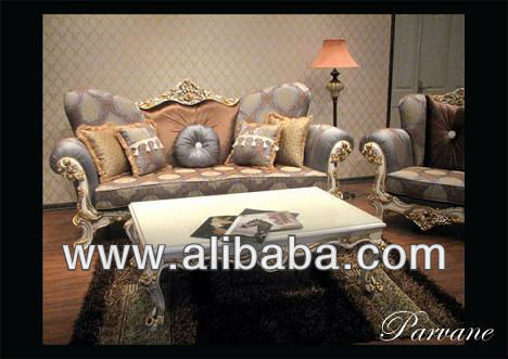 * Parveneh* 3,3,1,1, living room sofa/classical solid wood sofa/ fabric sofa