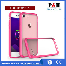 TPU Frame Acrylic cover wholesale transparent phone case