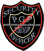 Machine Embroidery Security Officers Badges