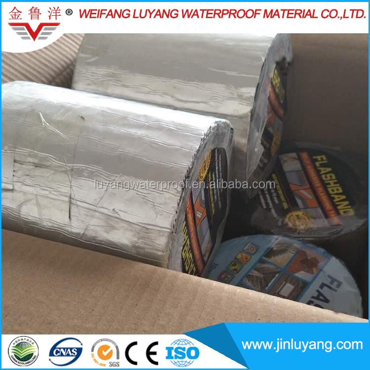 Self Adhesive Bitumen Aluminum film Waterproof Flashing Tape