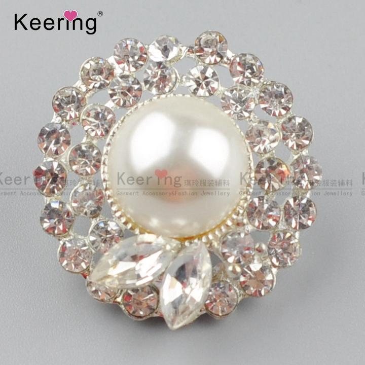 Newest garment accessories gold rhinestone metal shallk button for women clothes