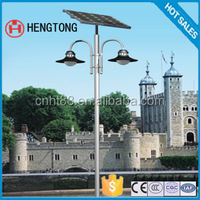 newest design hot sale IP66 13w 4.5m lighting pole solar garden light with cheapest price
