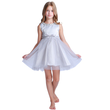Latest Design Baby Girl Dress Wedding Party Frock Lace Flower Girl Dress