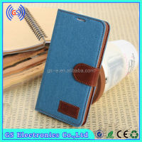 phone casing supplier denim leather flip case for samsung galaxy s4 mini