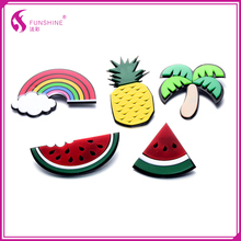 New brooch watermelon and pineapple shaped Rainbow design plastic brooch