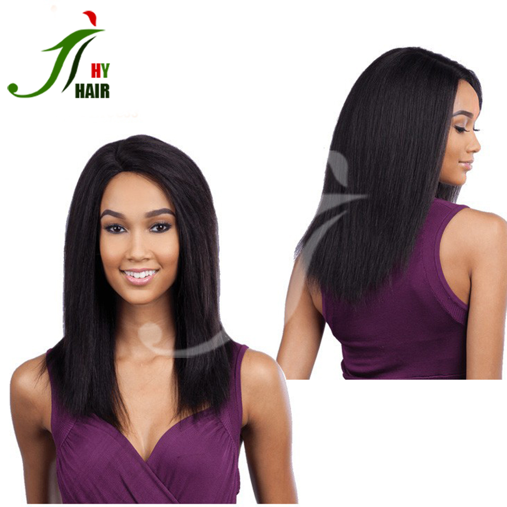 Aliexpress Wholesale Factory Unprocessed Virgin Remy Yaki Kinky Straight lace front Human Hair Full Lace Wig With Baby Hair