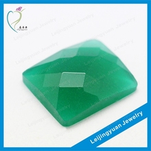 Rectangle shape rough uncut green diamond