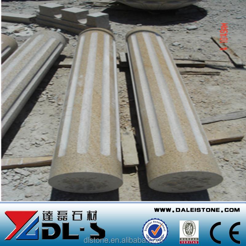 G603 Granite Decorative Square Columns For Gate Pillar