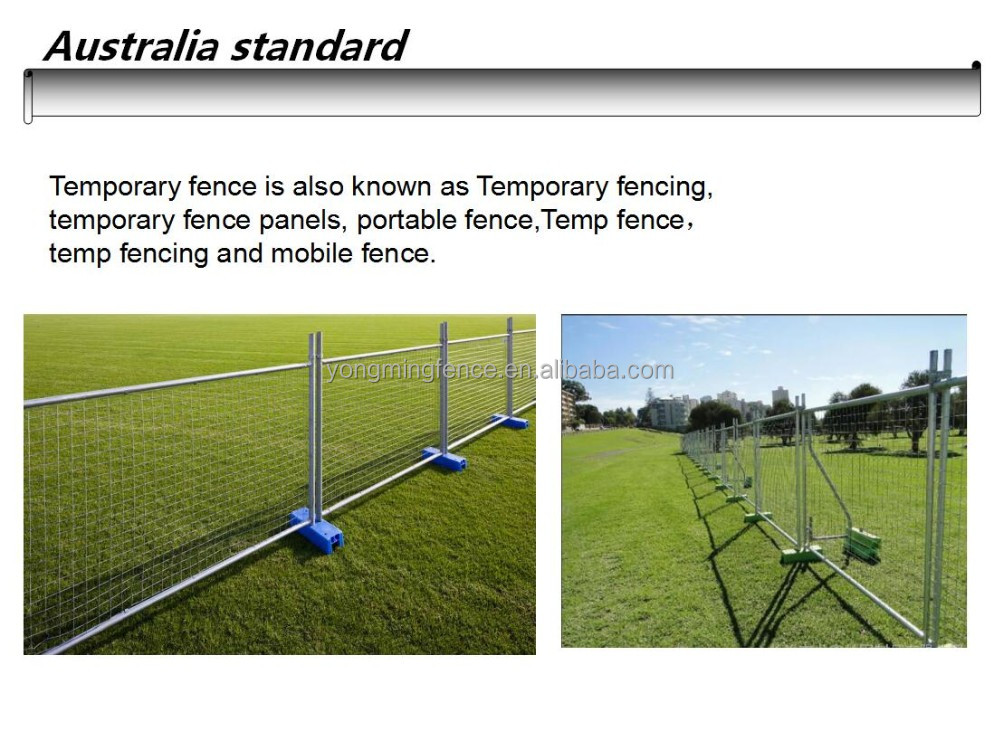 Galvanized steel temporary fence for Australia & New Zealand