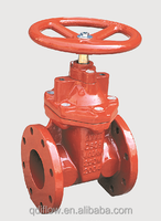 AWWA C509 250PSI Non Rising Stem Flanged Joint Ends Resilient Wedge Gate Valve