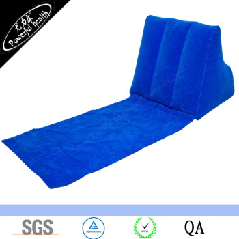 High Quality Flocking Wedge Inflatable Backrest Beach Backrest Pillow Foldable Triangle Readig Pillow