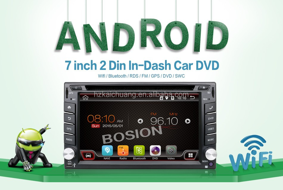 6.2 inch Touch Screen 2 din In-dash Android4.4 Car DVD Car PC with Wifi 3G