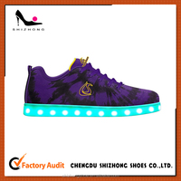 Cheap name brand LED light shoes for men,bright and colorful LED running shoes for wholesale
