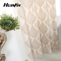 polyester cotton material Insulated chain embroidery window curtain