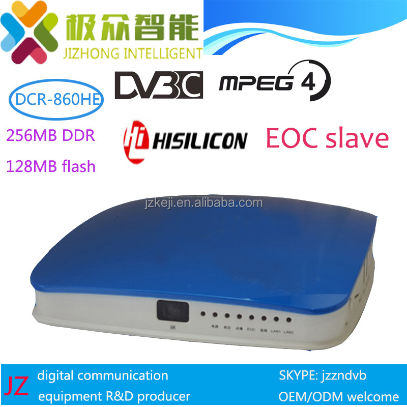 Hisilicon His3716MV310 DCR-860HE DVB-C stb can working as EOC slave
