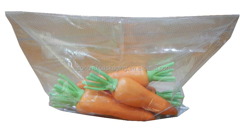 monolayer micro-perforated vegetable/fruit/carrot bag