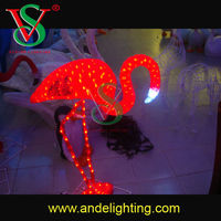 New products 2016 holiday decoration 3D LED Christmas light flamingo motif light